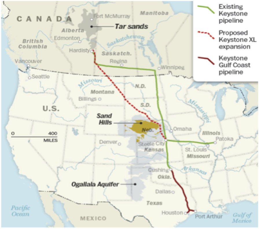 Keystone Pipeline on Keystone Pipeline Route Map